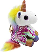 Cute Unicorn Plush Stuffed Keychain Animal Backpack Clip Handbag Keyring for Girls Women Kids