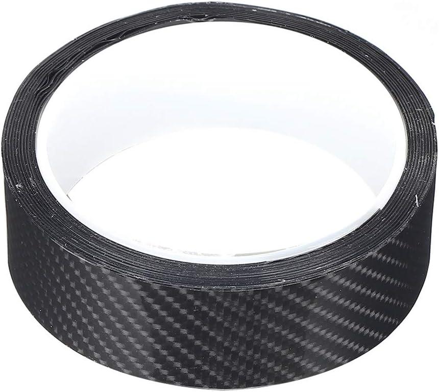 3CM*3M Rotolo Adesivo in fibra di carbonio Pellicola protettiva in fibra di carbonio nera Pellicola protettiva per portiera per auto Adesivo antigraffio Rotolo avvolgente impermeabile senza