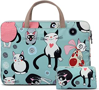 Laptop Bag Suitable for Laptop Bag Handbag with Power Bag Thickened Shockproof Cloth Cute Cat Pattern Laptop Case 11-15.6 ...