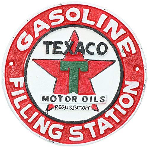 AB Tools Texaco en Fonte Plaque Ronde Signe Mur Garage Station Service Boutique Atelier