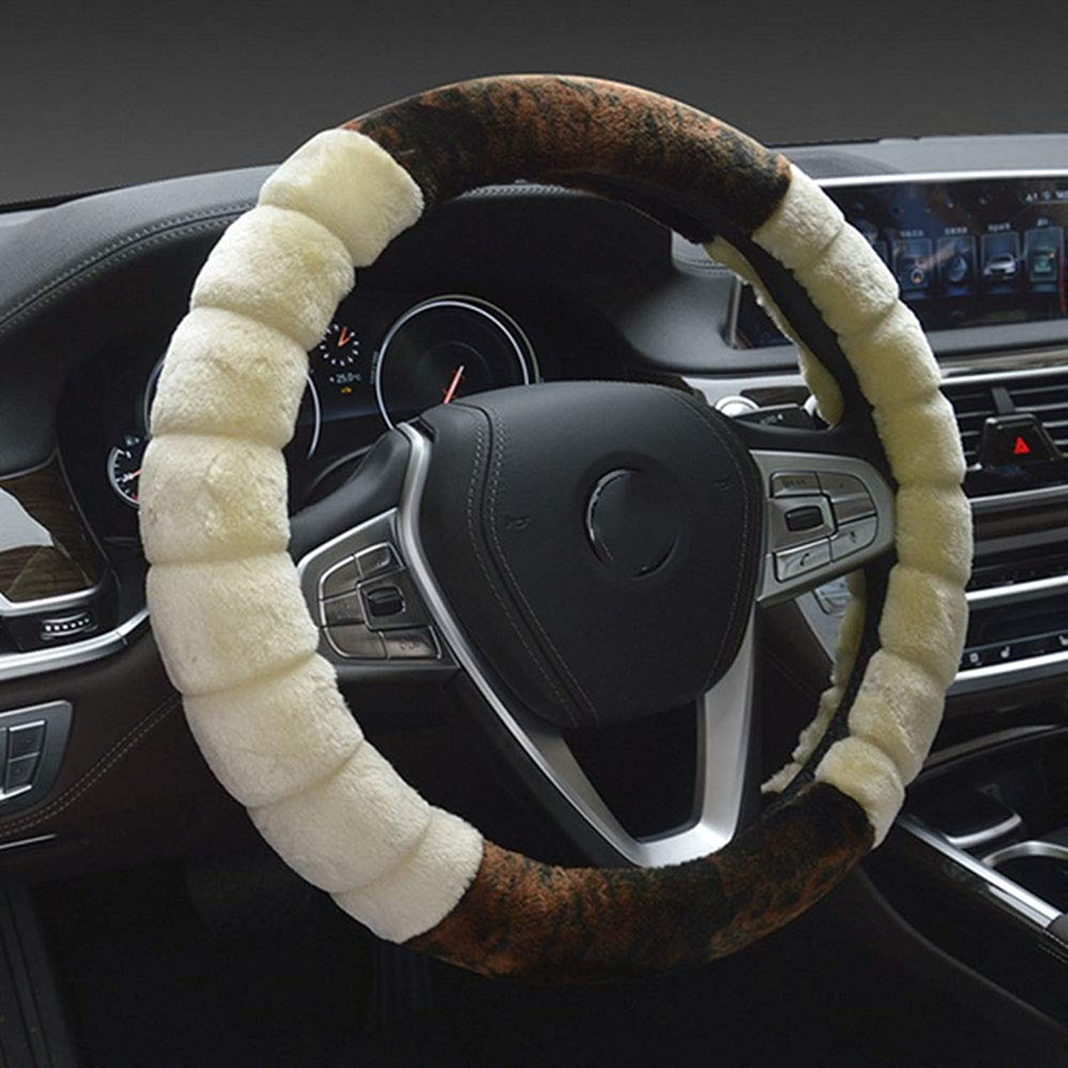 Universal NonSlip Soft Car Auto Steering Wheel Covers, Comfortable, Durable,15inches, 2