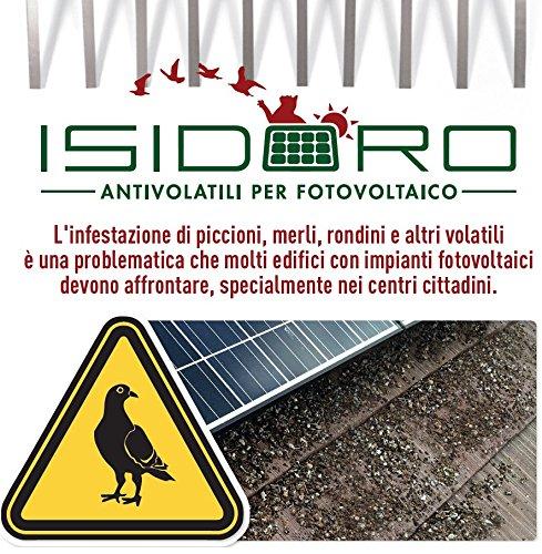 Peine inoxidable para sistema anti Palomas universal fotovoltaico marca Isidoro garantía 25años