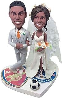 Soccer Cake Topper Wedding Cake Topper Personalizzato Wedding Cake Topper Soccer Wedding Topper Wedding Cake Toppers Matri...