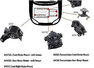 DNJ MMK1014 Complete Engine Motor & Transmission Mount kit for 2005-2006 / Honda/Odyssey / V6 / SOHC / 3.5L