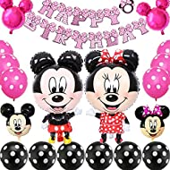 【High quality materials】 Made of high quality latex material, thick and durable enough, not easy to break and easy to inflate, safe for indoor and outdoor decoration, also can be filled with helium 【Minnie Themed Balloons】 Latex balloons support air ...