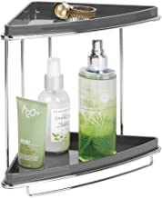 mDesign Metal 2-Tier Corner Storage Organizing Caddy Stand for Bathroom Vanity Countertops, Shelving or Under Sink - Free ...