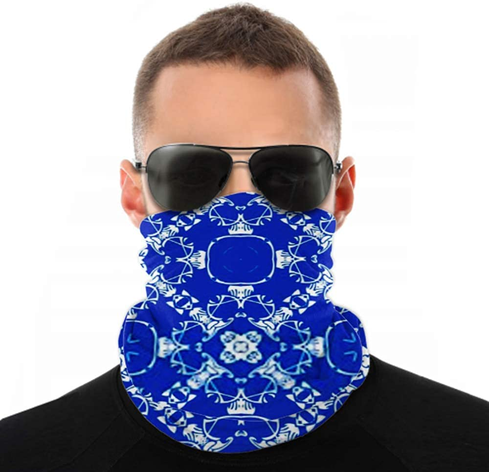 Headbands For Men Women Neck Gaiter, Face Mask, Headband, Scarf Abstract Seamless Pattern Royal Blue Color Turban Multi Scarf Double Sided Print Girls Headband For Sport Outdoor