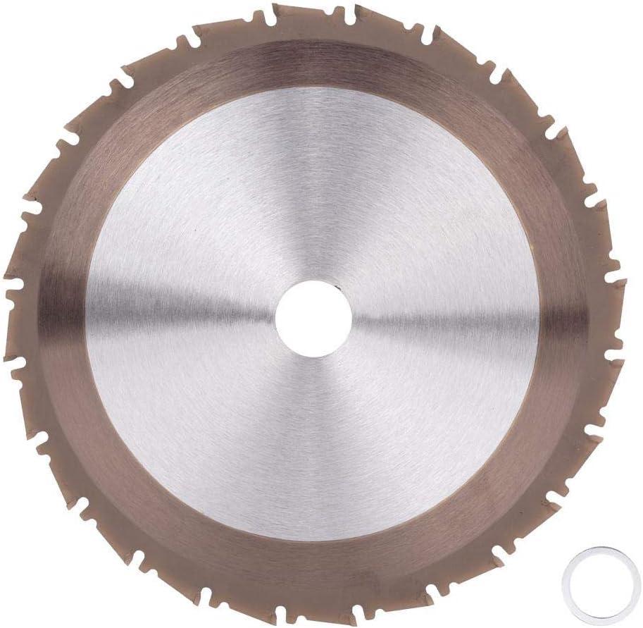 Hoja de Sierra Circular 210mm 24T, Disco de Corte de Carburo para Madera Metálica de 25.4 mm de Diámetro, Hoja de Sierra de Corte para Cortar Baldosas, Acero, Aluminio, Hierro