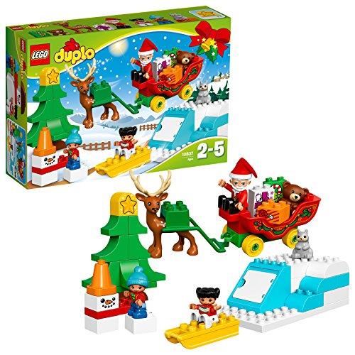 """LEGO Duplo 10837 - \""""Winterspaß mit dem Weihnachtsmann Konstruktionsspiel, bunt"""