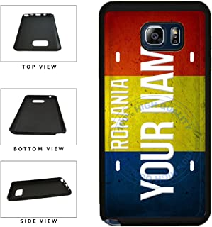 BleuReign(TM) Personalized Custom Name License Romania Country Flag Plate TPU RUBBER SILICONE Phone Case Back Cover For Samsung Galaxy Note 8
