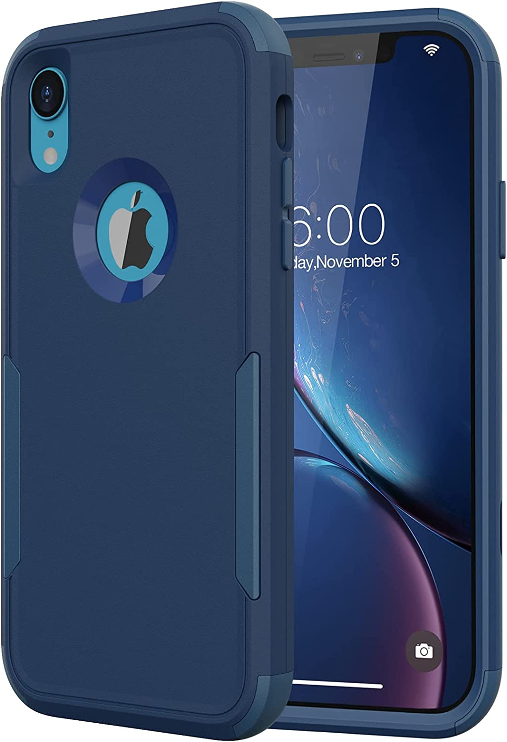 Diverbox Compatible with iPhone Xr Cases, [Shockproof] [Dropproof] Heavy Duty Protection Phone Case Cover for Apple iPhone Xr (Sapphire Blue)