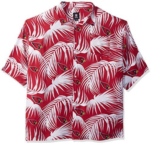 Arizona Cardinals NFL Mens Hawaiian Button Up Shirt - M