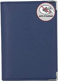 Porte 2 Cartes blind/és Bleu Marine /étui Anti-piratages Simili cui Fabrication Fran/çaise
