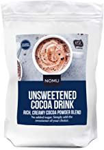 NOMU Unsweetened Cocoa Drink 2.2lb Bulk Bag [50 servings] Instant Hot Chocolate Powder Mix