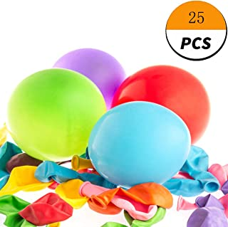 GETIEN Glow Party Balloons LED Balloons Flashing Lights 12-24 Hours Party Supplies Birthday Decorations Halloween Party (White Light Mixed Color Balloon, 25)