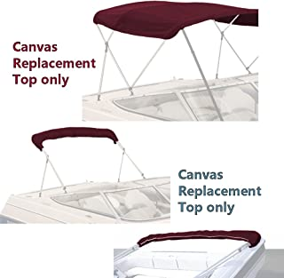SavvyCraft 3 Bow Bimini Top Replacement Canvas Cover with Storage Boot/Without Frame