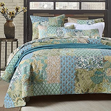 Retro Comforter Set Floral Paisley Printed Pattern 100 Cotton Patchwork Quilt Sets 3 Piece King Kitchen Dining