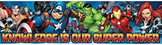 Eureka Marvel Superheroes 'Knowledge is Our Super Power' Poster and Classroom Decoration, 12'' x 45''