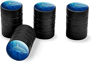 Graphics and More Great White Shark Realistic Tire Rim Wheel Aluminum Valve Stem Caps