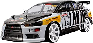 HHoo88 2.4GHz 4WD 1/10 70Km/h High Speed RC Car Double Battery Powerful LED Headlight Racing Stunt RC Vehicle RTR On Road Toys Best Xmas Birthday Gift for Kids Truck (Black)