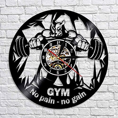 fdgdfgd Classic CD Record Fitness Bell Disco de Vinilo Bell Bodybuilder Fitness Gym | Sorpresa Antes de Navidad