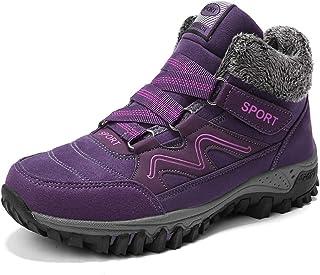 Luckingme Women's Snow Booties Warm Comfortable Hiking Shoes Anti Slip Walking Shoe