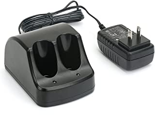 PowerGiant Versapak Charger for Black & Decker 3.6V Ni-CD & Ni-MH Versapak Battery VP110 VP100 VP130, 1A Dual Port