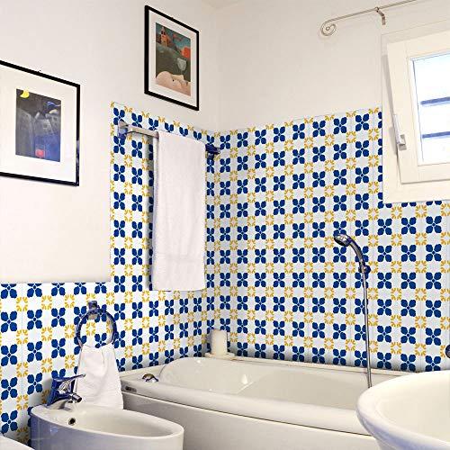 shiyueNB behang zelfklevende slaapkamer 20 cm breed 5 meter lang behang waterdicht Europese patroon achtergrond muur slaapkamer decoratieve muursticker 1.2m*1.4m D