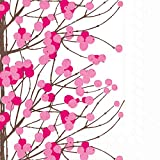 Boston International C552995 Ihr Marimekko Cherry Blossom Cocktail Beverage Paper Napkins, 5 x 5, Lumimarja Pink