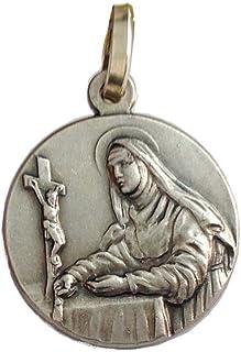 Medaglia in Argento Massiccio 925 di Santa Rita da Cascia - La Santa dei Casi Impossibili