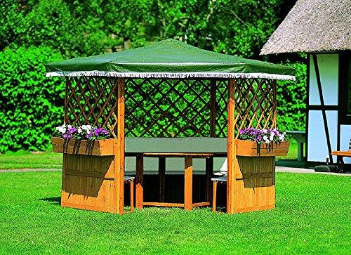 5er Set Blumenkästen für Pavillon MARBURG Blumenkasten Gartenlaube 108x22x19cm