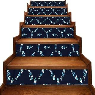 Dark Blue Traditional Waterproof Home Decor Polygonal Ocean Swim Removable Sticker