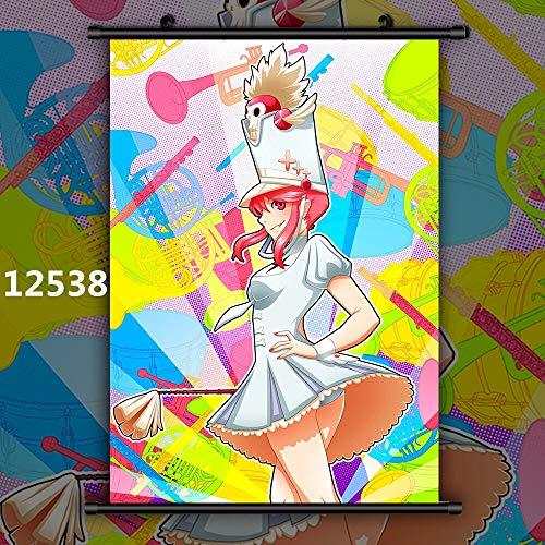 Kill La Kill Mankanshoku Mako Jakuzure Nonon Harime NUI Anime Manga HD Impresión de Cartel de Pared Desplazamiento 40x60cm 12538