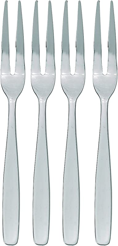 HIC Escargot Cocktail Appetizer Fork Set Stainless Steel 6 Inches 4 Piece Set