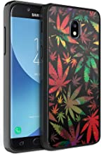 Moriko Compatible with Galaxy J3 TOP [Gel Slim Thin Hybrid Jelly Drop Protection Shockproof Black Phone Case Protector Cover] for Samsung J3 (2018) Orbit Achieve Star (Colorful Leaf)
