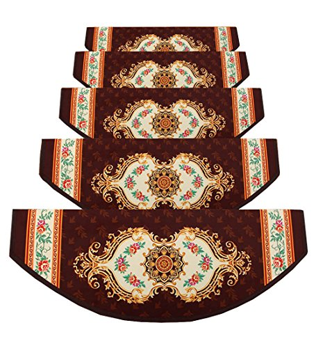 ZENGAI Stile Europeo Scale Tappetino Pad 5 Pezzi Tappetino Autoadesivo, 12 Colori (Colore : 1#-5 Pieces, Dimensioni : 100x(24+3) cm)