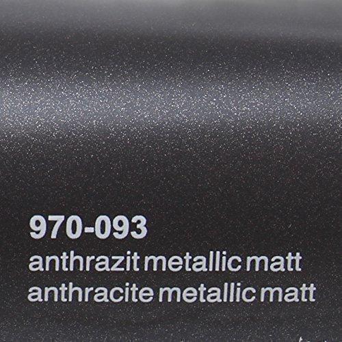 20,72€/m² Oracal 970RA 093 Anthrazit Matt Metallic gegossene Profi Autofolie 152cm breit BLASENFREI mit Luftkanäle