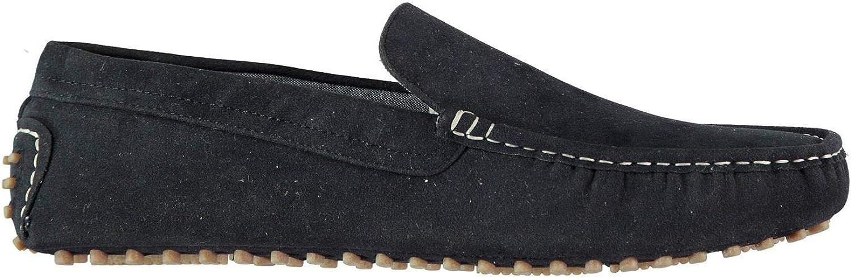 Soviet Loafers Slip On shoes Mens bluee Formal Footwear Flats