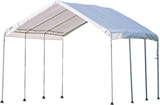 ShelterLogic 10' x 10' MaxAP Canopy Series Compact Outdoor Easy to Assemble Steel Metal Frame Canopy with 50+ UPF Sun Protection and Waterproof Cover
