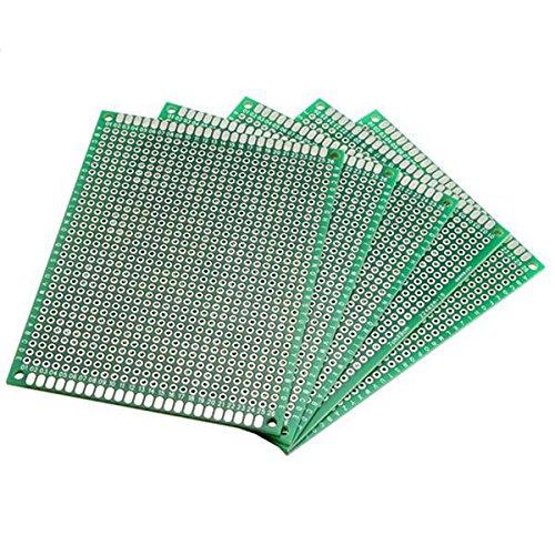 CynKen 5Pcs FR-4 Universal Double Side Prototype PCB Board 7cm x 9cm
