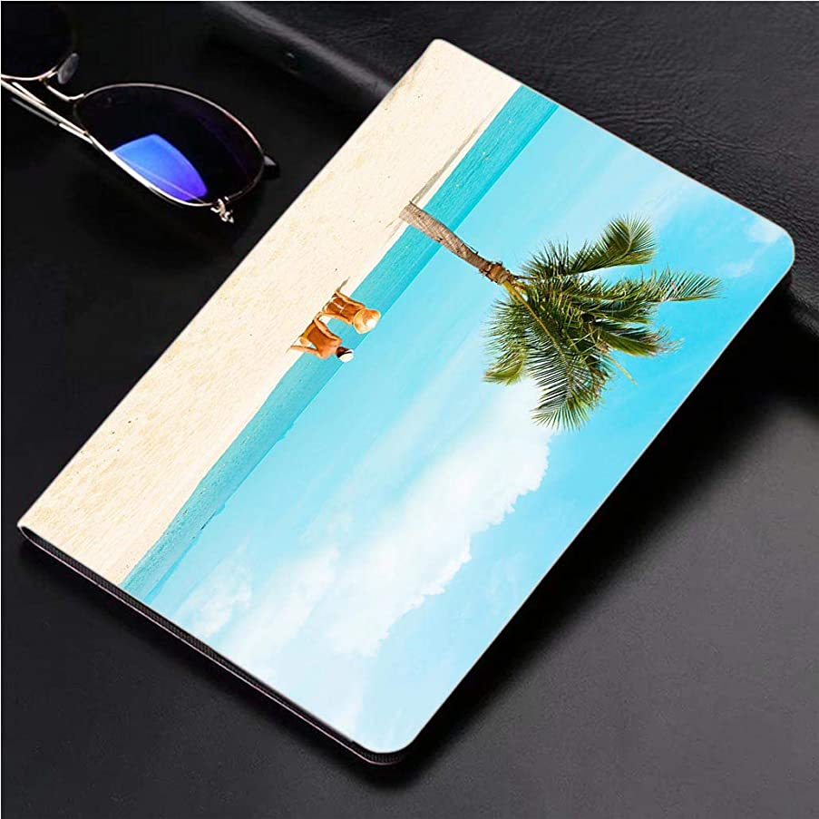 Compatible with 3D Printed iPad Pro 10.5 Case Cuople at Tropical Beach 360 Degree Swivel Mount Cover for Automatic Sleep Wake up ipad case