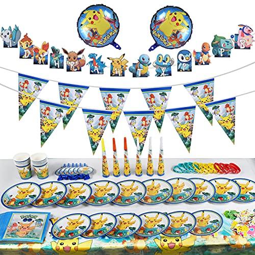 Decoración de la Fiesta de cumpleaños Infantil, Pulsera de Silicona para la celebración de Fiestas para 10 Invitados (118 Piezas)