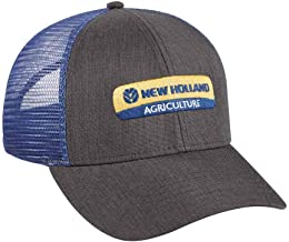 New Holland Heather Grey Twill with Blue Mesh Back Cap
