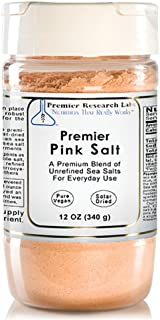 Premier Pink Salt, 12 Ounce, A Premium Blend of Unrefined Sea Salts for Everyday Use, Does Not Include Anti-Clumping Agents or Additives