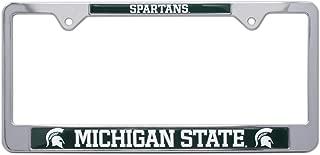 AMG Auto Emblems All Metal NCAA MSU Spartans Mascot License Plate Frame (Michigan State)