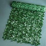 Anjinguang Künstliche Hecken, Buchsbaum, grüner Efeu-Sichtschutz, 0,5 m x 1 m, Efeuschutz, künstliche Blätterhecke, Paneel auf Rolle, Kunststoff Gartenzaun