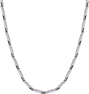 Stainless Steel Silver Chain Trendy And Fancy Double Coated Popular Chain For Men Women Necklace Boys Elegant Gift