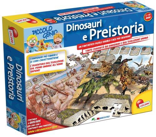 Liscianigiochi 43972 - Piccolo Genio Geopuzzle, Dinosauri e Preistoria