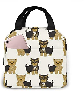antspuent Yorkshire Terrier Cute Yorkie Dog Pet Lunch Bag for Women Girls Kids Insulated Picnic Pouch Thermal Cooler Tote ...