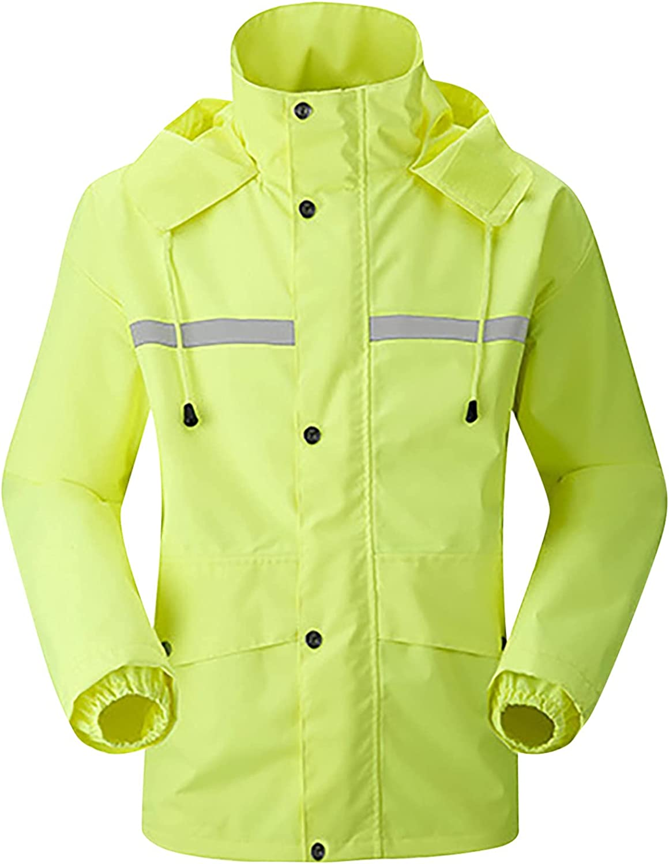 GOODTRADE8 Cardigan Sweaters Women and Man Casual Long Sleeve Windbreaker Waterproof Reflective Duty Raincoat